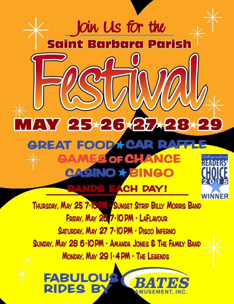 St Barbara 2017 Festival flyer 8x11