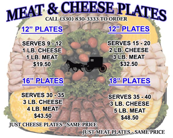 Meat & Cheese Plate Sizes & Prices 590