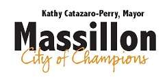 Massillon City of Champions Logo with Mayor's Name