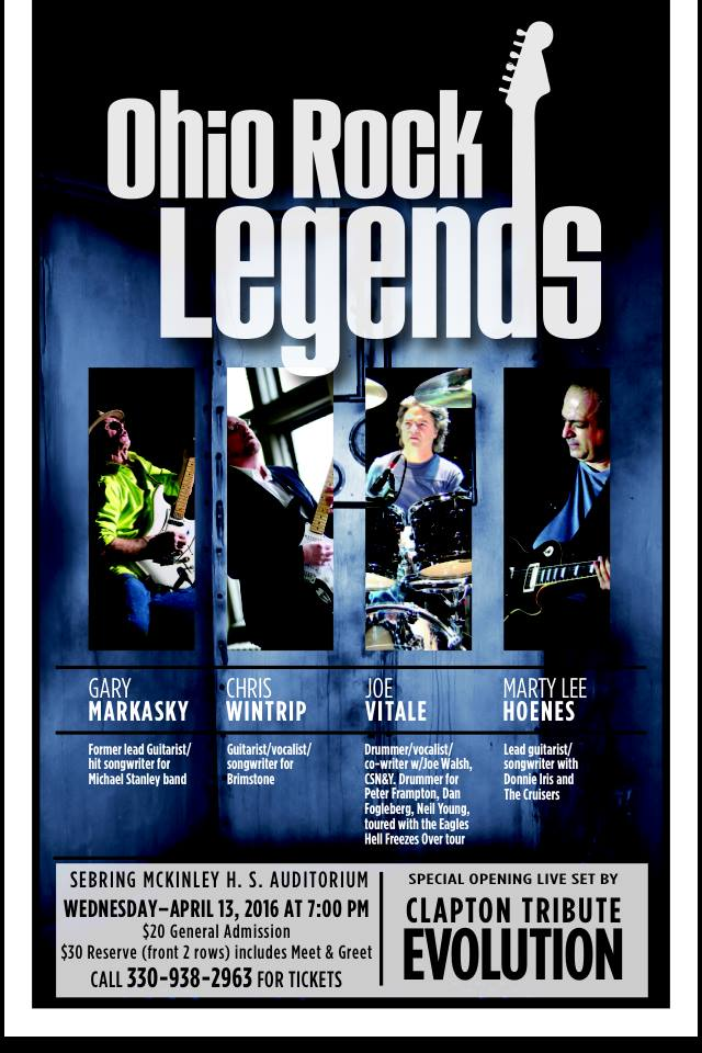 Ohio Rock Legends Sebring April 13th
