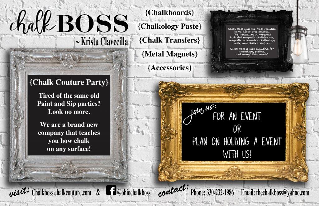 Chaulk Boss Poster Hold an event