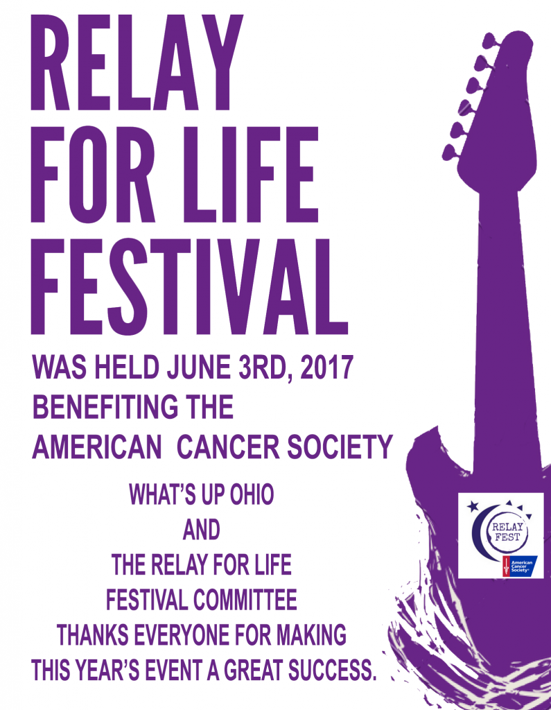 Thanks from RELAY FOR LIFE festival Flyer