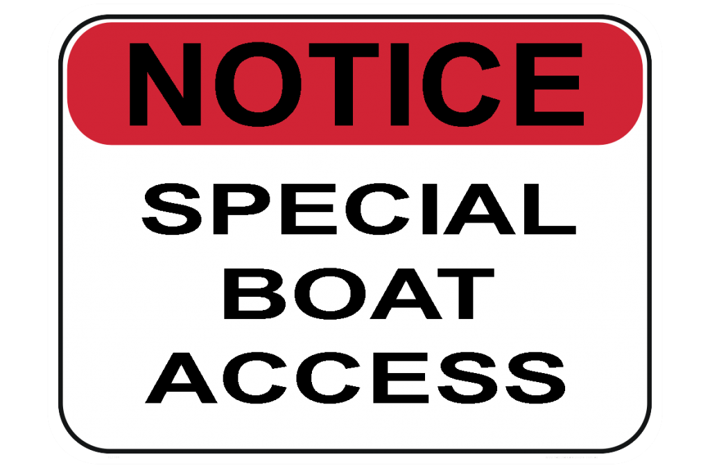 Special Boat-access-sign