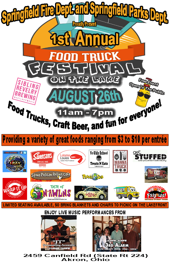 Springfield's 1st Food Truck Festival On The Lake
